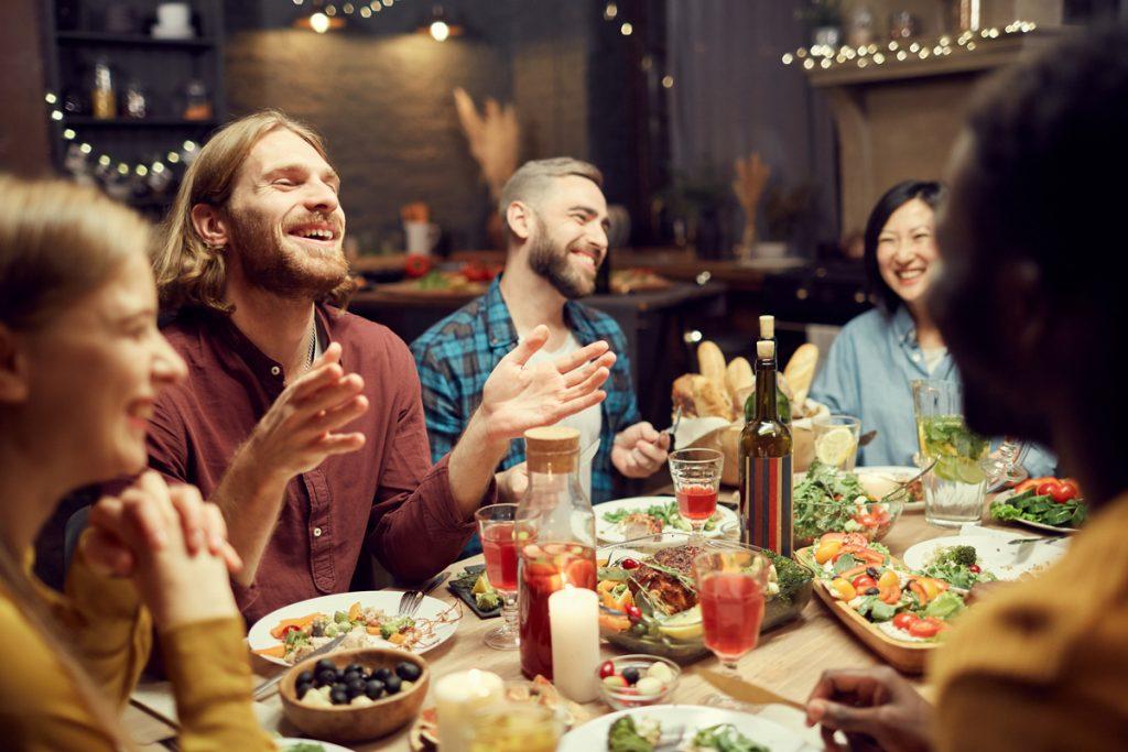healthy snacks enjoy with friends